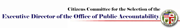 The Citizens Committee for the Selection of the Executive Director of the Office of Public Accountability
